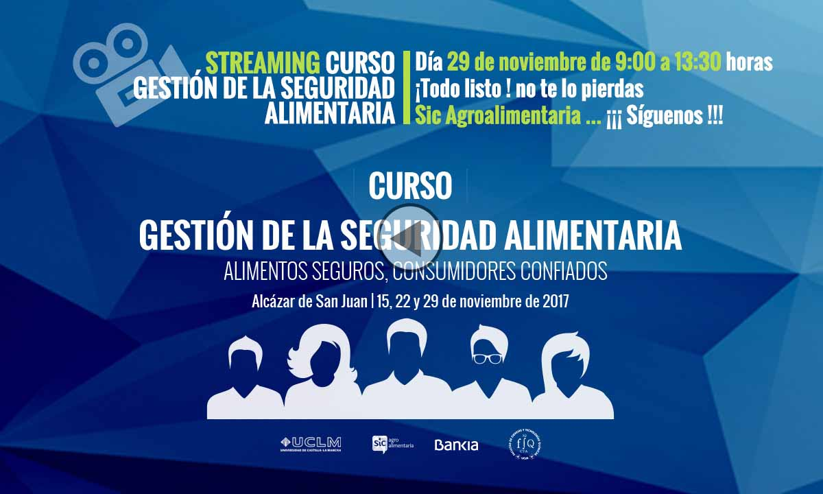 Streaming video curso seguridad alimentaria